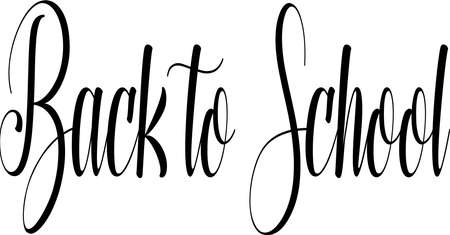 Back to school text sign illustrstion on white Background