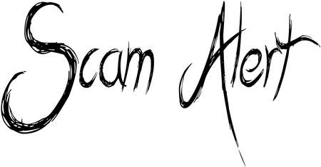 Scam Alert text sign illustration on white background