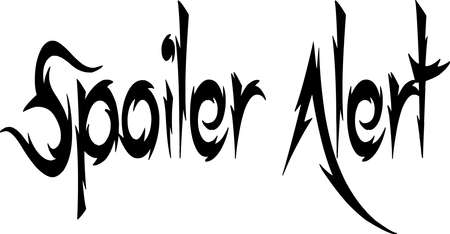 Spoiler Alert text sign illustration on white Background