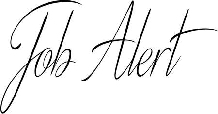 job alert text sign illustration on white background