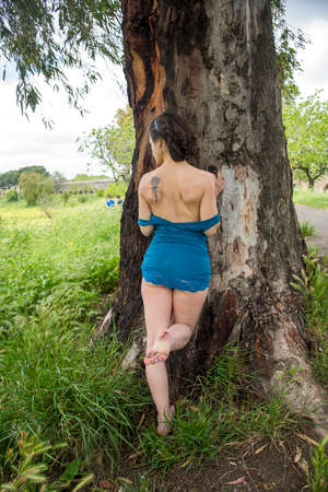 Portrait of girl in the parck in Rome