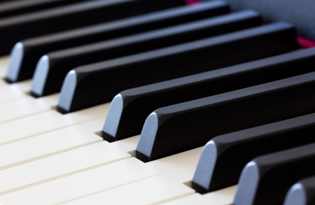Side view of piano keys photo