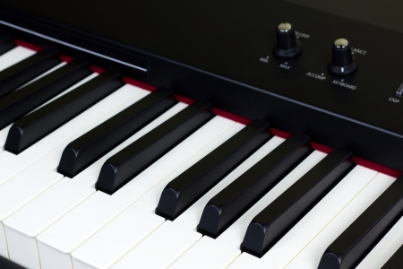 side keys: Side view of piano keys