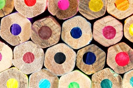 colour pencils: Different colored pencils closeup