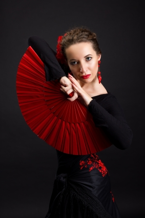 Portrait of flamenco dancer woman photo