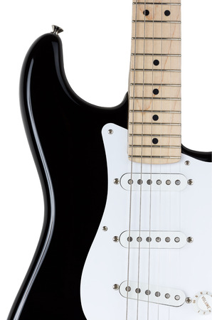 Electric guitar body part isolated over white background photo