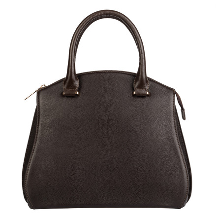bag: Dark brown female purse isolated on white