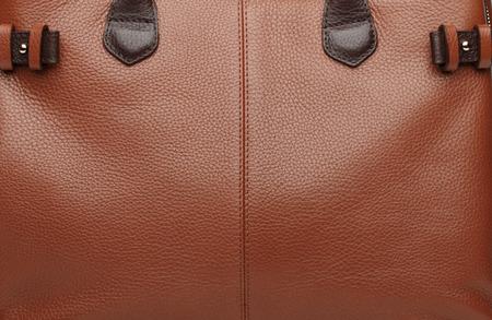 vanity bag: Terracotta natural leather female purse closeup