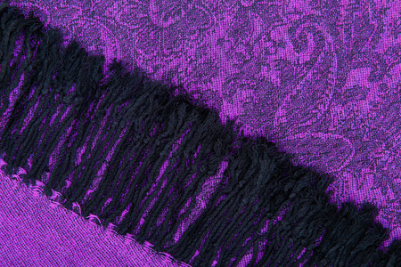 Traditional paisley pattern purple cashmere pashmina sample photo