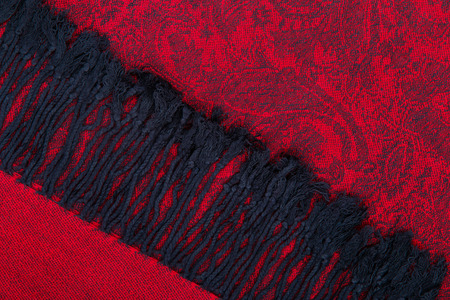 Traditional paisley pattern red cashmere pashmina sample photo