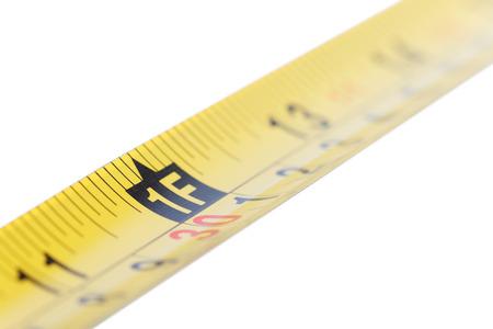 cintas metricas: Amarillo cinta métrica de acero. Reparación y construcción de conceptos