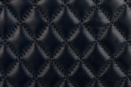 quilted: Black quilted leather background