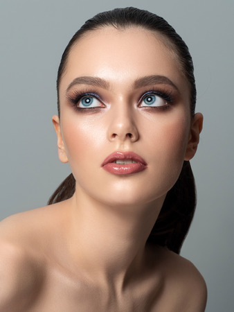 Portrait of young woman with beautiful makeup Stockfoto