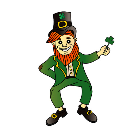 st  patrick's day: St Patricks day Leprechaun Stock Photo