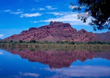 Salt River Reflections Arizona Stock Photo - 511893