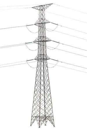 Electric tower isolated