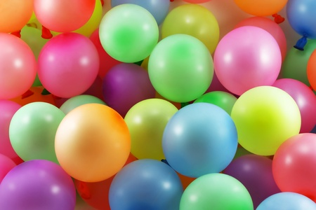 many colored: Colored balloons