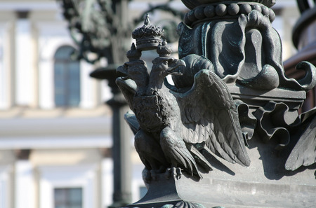 double-headed eagle - the symbol of russian empire Stock Photo