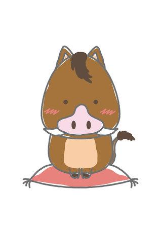 boar sitting on a cushion