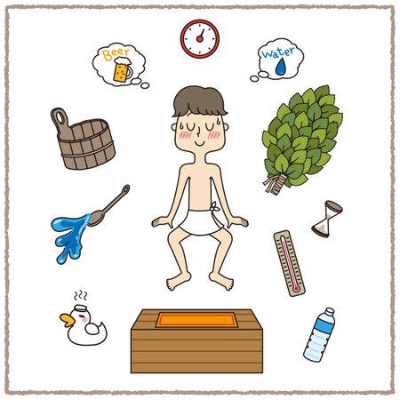 Bath Towel Men Sauna Set