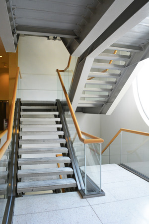 i beam: staircase with glass rail,interior design architecture