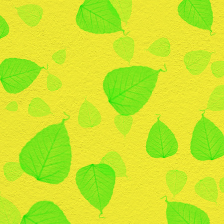 White Wall Texture With Green Leaf Paint,for Background Stock Photo ...