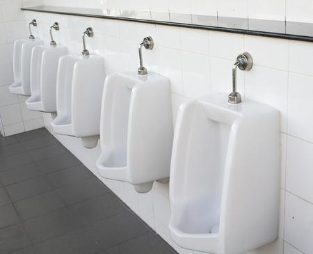 urinals in men toilet,modern style Banco de Imagens