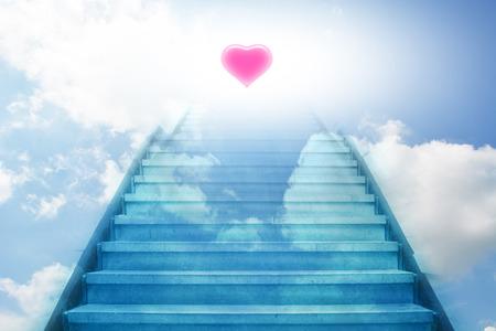 trap omhoog naar het hart
