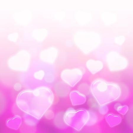 backgrund: sweet hearts with pink bokeh light backgrund