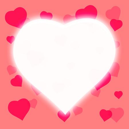 heart tone: white heart shape background,pink color tone