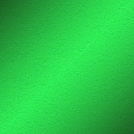 green wall paint texture with oblique shade light Stock Photo