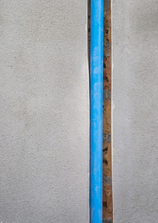 hinge joint: bury a pvc pipe in the wall
