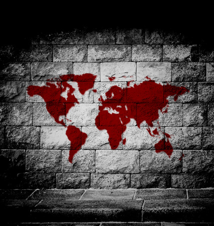 Blood world map on the wall stock photo picture and royalty free blood world map on the wall stock photo picture and royalty free image image 41379894 gumiabroncs Image collections