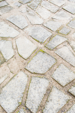 stenen pad wandeling manier op outdoor