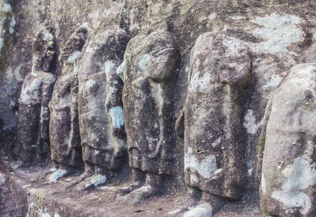 steen kunst in Phu Phrabat historacal park in Thailand udontani