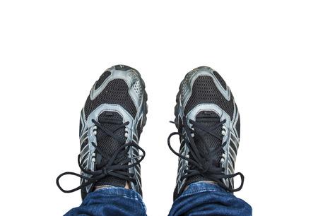 voet met schoen geïsoleerde achtergrond