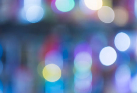 city lights: blue monotone bokeh abstract background