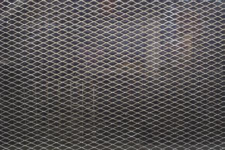 Strekmetaal met glas achtergrond