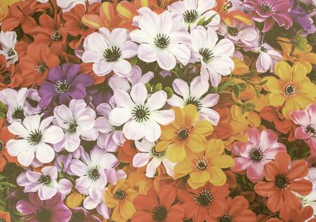 kleurrijke bloemen vintage stijl abstracte achtergrond