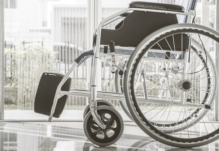 Wheelchairs with light from window, monotone process Stockfoto