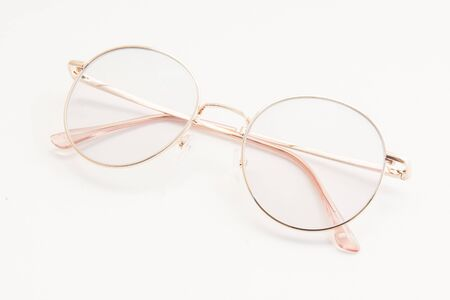 A glasses on the white isolated background