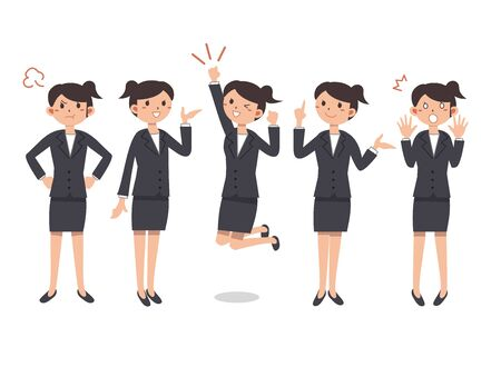 Business Woman's Facial Illustration Ilustração