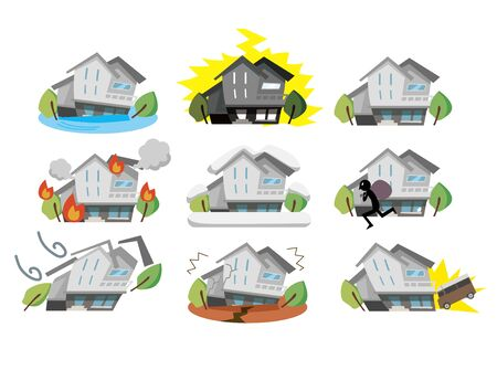 Disaster illustration of a house