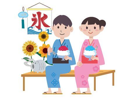Summer Image Illustrations in Japan