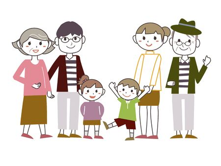 Family Group Illustration