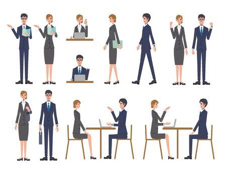 Business Person Illustration Set