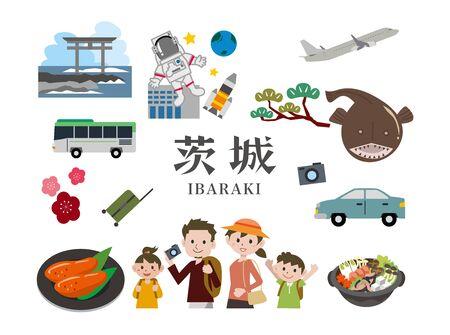 Ibaraki Tourism Иллюстрация