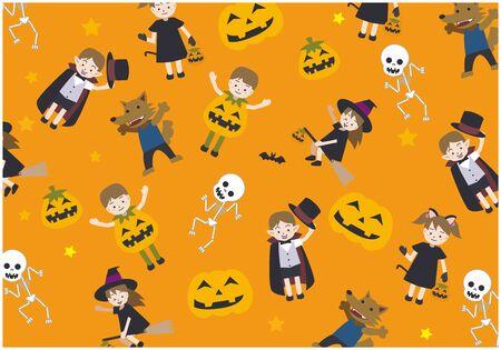 Halloween Illustration Set Ilustração