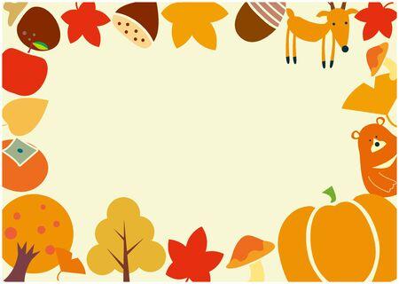 Autumn Frame Frame 일러스트