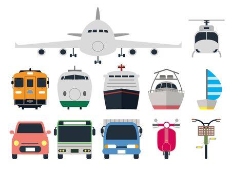 Vehicle Illustration Set Vektorové ilustrace
